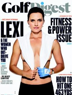 Lexi Thompson sexi en la revista Golf