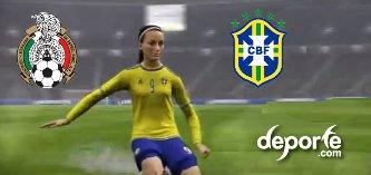 Mexico Vs Brasil femenil FIFA 16 en septiembre 22 del 2015